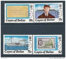 1984 Cayes De BELIZE 18-21** Timbre Sur Timbre - Belize (1973-...)