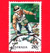 AUSTRALIA ~  Usato ~ 1979 - Pesca Della Trota Con La Lenza - Fly Fishing - 20 - 1966-79 Elizabeth II