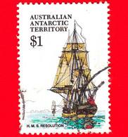 Territorio Antartico Australiano - AAT - Usato - Aat 1980 - Navi - Velieri - H.M.S. Resolution - 1 - Usati