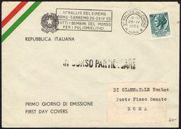 MOTORING - ITALIA ROMA 1955 - II RALLYE DEL CINEMA ROMA / SANREMO - TUTTI I BAMBINI DEL MONDO PER I POLIOMIELITICI - Cars