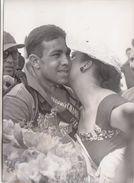 CICLISMO_FOTO_PHOTO D'ARCHIVIO_TOUR DE FRANCE 1953_VAN GENEUGDEN(BELGE) VINCITORE DELLA 6°TAPPA-CAEN-LE MANS- - Cycling
