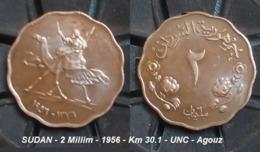 SUDAN - 2 Millim - 1956 - Km 30.1 - UNC - Agouz - Sudan