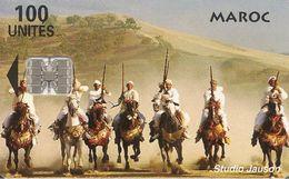 CARTE+PUCE-MAROC-100U-SC7-FANTASIA-V° Téleboutique-V° BLANC-Non ECRIT-UTIL-TBE - Maroc
