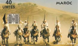 CARTE+PUCE-MAROC-40U-SC7-FANTASIA-V° Téleboutique-V° BLANC-Non ECRIT-UTIL-TBE - Morocco