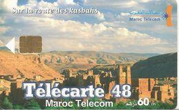CARTE+PUCE-MAROC-60 Dh-SA2-05/03-ROUTE Des KASBAHS-TELECARTE 48-UTIL-TBE - Morocco