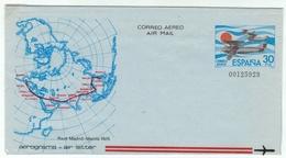 Espagne // Espana //  Entier Postal Neuf De La Poste Aérienne (aerograma) - Entiers Postaux