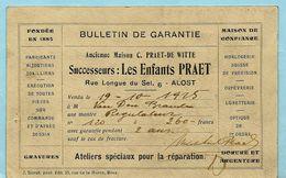 AALST - Maison Praet - Lange Zoutstraat 6 ** Zie Ook Reclame Op Verso - Aalst