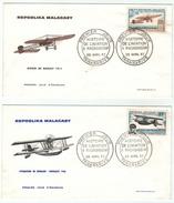 Madagascar //  Histoire De L'aviation à Madagascar (2 Lettres) - Madagascar (1960-...)