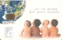 CARTE+PUCE-MAROC-AFRIC PHONE-ONCF-GEM-20U-ENFANTS-UTILISE-TB - Maroc