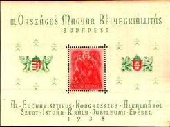 85538)   Ungheria - Fogli 1938 - Congresso Eucaristica-BF.n.3 -  FOGLIETTO MNH - Ungheria