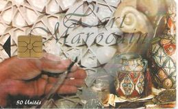 CARTE+PUCE-MAROC-AVE PHONE-50U-GEM-L ART MAROCAIN-UTILISE-TBE - Maroc
