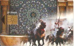 CARTE+PUCE-MAROC-AVE PHONE-25U-GEM-L ART MAROCAIN-UTILISE-TBE - Maroc