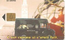 CARTE+PUCE-MAROC-AVE PHONE-25U-GEM-CAMION U P S-UTILISE-TBE - Morocco