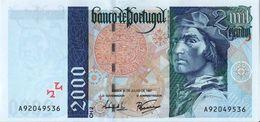 VF NOTA 2000 ESCUDOS BARTOLOMEU DIAS 31 JULHO 1997UNC - Portogallo