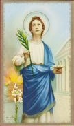 Heiligenprentje Image Pieuse Santini Sainte Lucia Santa Lucie Syracuse Heilige Romeinse Martelares Holy Card Goldprint - Images Religieuses