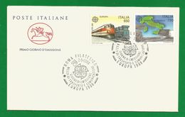 Italien 1988  Mi.Nr. 2043 / 2044 , EUROPA CEPT Transport- Und Kommunikationsmittel - FDC - First Day 2.5.1988 - Europa-CEPT