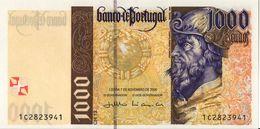 VF NOTA 1000 ESCUDOS PEDRO ALVARES DE CABRAL 07 NOV. 2000 UNC - Portogallo