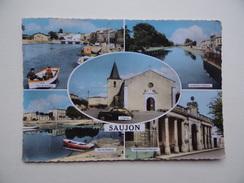 17 SAUJON Port Du Ribérau Eglise La Saudre - Saujon