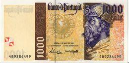 VF NOTA 1000 ESCUDOS PEDRO ALVARES DE CABRAL 21 MAIO 1998 UNC - Portogallo