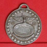PORTUGAL    - MEDALHA SLB - 5 GRS 34MM    - (Nº19602) - Jetons & Médailles