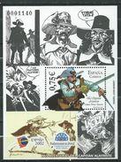 Spain/Espagne - 2002 World Youth Philatelic Exhibition Espana 2002 Salamanca - Captain Alatriste - Comic Strips.S/S. MNH - 1931-Aujourd'hui: II. République - ....Juan Carlos I