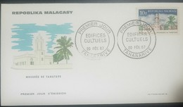 O) 1967 MALAGASY REPUBLIC - MADAGASCAR, MOSQUE TAMATAVE, ARCHITECTURE, FDC XF - Madagascar (1960-...)