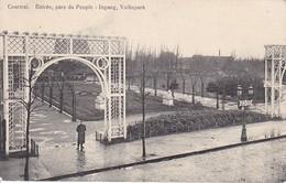 AK Courtrai - Entrée, Parc Du Peuple - Feldpost - 1914  (32236) - Kortrijk