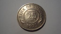 MONNAIE GUYANA 25 CENTS 1975 - Guyana