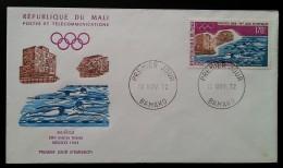 MALI - FDC 1972 - YT Aérien N°163 - Jeux Olympiques Modernes / Sport - Mali (1959-...)