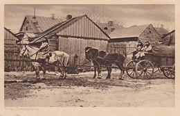 AK Pinsk - Strassenbild - Feldpost Landst.-Inf.-Batl. München - 1916  (32238) - Weißrussland