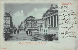 BRUXELLES - Boulevard Anspach Avec La Bourse - Lanen, Boulevards