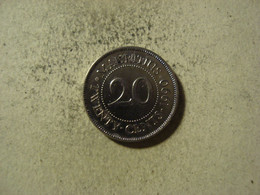 MONNAIE MAURICE 20 CENTS 1990 - Mauritius