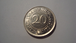 MONNAIE MAURICE 20 CENTS 2007 - Mauritius