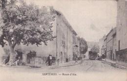 CPA : Septèmes  (13)  Route D'Aix       Tram         Carte Très Rare - France