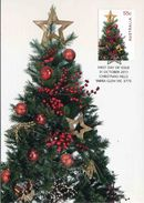 """Entier Postal De 2011 D'Australie Sur CP Avec Timbre Et Illust. """"Noël : Sapin De Noël Décoré"""" - Noël"""