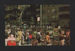 1960 Years Postcard NEW YORK CITY GREENWICH VILLAGE OUTDOOR ART EXHIBIT - Greenwich Village