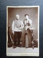 PHOTOGRAPHIE  COUPLE - HOMME MILITAIRE PHOTOGRAPHE  MARIN - MAIDIERES LES PONT A MOUSSON - Personnes Anonymes