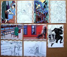 9 Cartes Postales BLAKE ET MORTIMER (Ted Benoit, Jacobs, Juillard, Ever Meulen, Schuiten) Archives Internationales, 1993 - Blake Et Mortimer