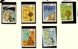 ESPACE - Comète De Halley - Nicaragua 1985 Y&T N°1382 à 1384 + PA1120 à 1122 *** - Space
