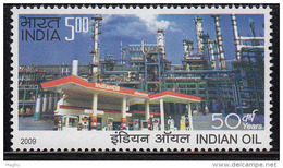 India MNH 2009,   Indian Oil, Refinery, Energy For Automobile, Motorbike, Transport, - Unused Stamps