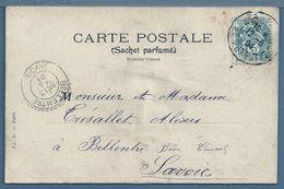 CPA - CACHET : BELLENTRE (SAVOIE) Au Dos : Aubépine - 1877-1920: Periodo Semi Moderno