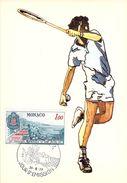 MONACO CARTE MAXIMUM  NUM.YVERT  1121 SPORT TENNIS - Maximumkarten (MC)