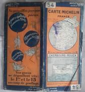 CARTE GÉOGRAPHIQUE Michelin - N° 54 CHERBOURG / ROUEN - N° 2820-29 - Roadmaps