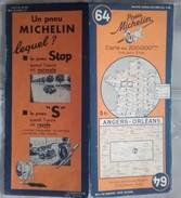 CARTE GÉOGRAPHIQUE Michelin - N° 64 - ANGERS / ORLEANS - N° 127-3746 - Roadmaps