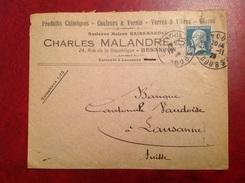 Malandre Gainsmandel  Besançon Pour Lausanne - Storia Postale