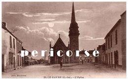44  Le Gavre  L'église Au Clair De Lune - Le Gavre