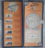 CARTE GÉOGRAPHIQUE Michelin - N° 68 - NIORT / CHATEAUROUX - 1941 - Roadmaps