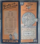 CARTE GÉOGRAPHIQUE Michelin - N° 68 - NIORT / CHATEAUROUX - 1948 - Roadmaps