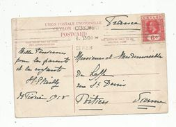 Carte Postale , Union Postale Universelle , Territoire Britannique De CEYLON , CEYLAN , Colombo ,1913 - Territoire Britannique De L'Océan Indien