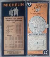 CARTE GÉOGRAPHIQUE Michelin - N° 72 - Angouleme : Limoges - 1948-2 - Roadmaps